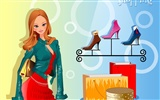 Vector collection of women wallpaper (6)