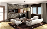 Living Room Photo Wallpaper (7)