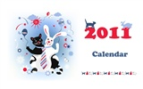 Year of the Rabbit 2011 calendar wallpaper (2)