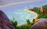 Colorful hand-painted wallpaper landscape ecology (3) #6
