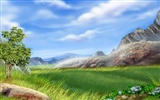 Colorful hand-painted wallpaper landscape ecology (3) #8