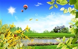 Photoshop sonnigen Sommertag Landschaft Wallpaper (2)