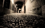 Windows 7 Wallpapers: Cobblestones And Corridors