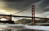 Windows 8 official panoramic wallpaper, cityscapes, Bridge, Horizon