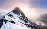 Windows 8 official panoramic wallpaper, waves, forests, majestic mountains