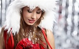 Beautiful Christmas girl HD wallpaper (1)