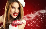 Beautiful Christmas girl HD wallpaper (2)