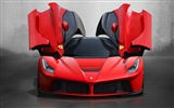 2013 Ferrari LaFerrari red supercar HD Tapety na plochu