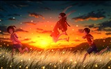 Firefly Summer beautiful anime wallpaper