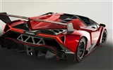 2014 Lamborghini Roadster Veneno rojo supercar HD wallpapers