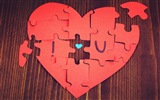 The theme of love, creative heart-shaped HD wallpapers #6