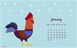 January 2017 calendar wallpaper (2) #15