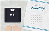 January 2017 calendar wallpaper (2) #17
