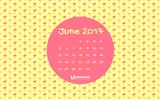 June 2017 calendar wallpaper #2