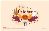October 2017 calendar wallpaper